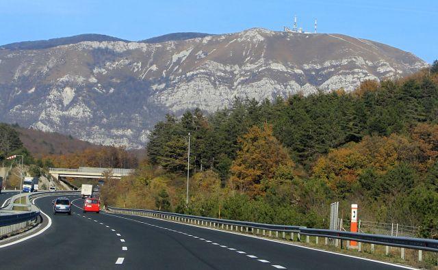 Primorska avtocesta. Foto: Leon Vidic/Delo