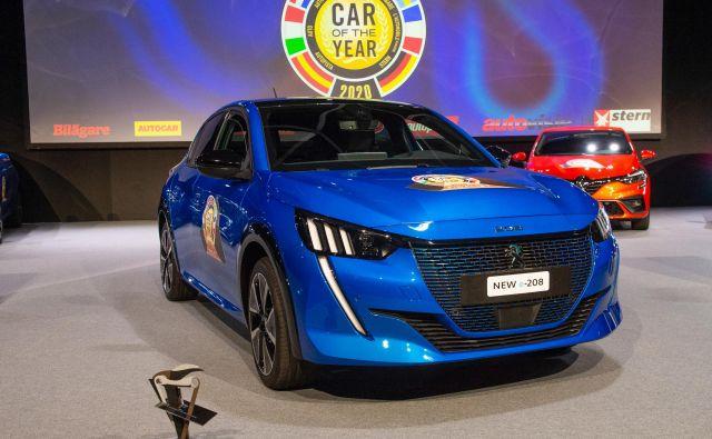 Peugeot 208 je evropski avto leta 2020. Foto Gims
