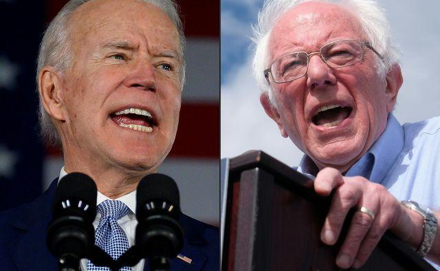 Sredinski demokrati upajo na prevlado Joeja Bidna nad Berniejem Sandersom. Foto: Ringo Chiu/Afp
