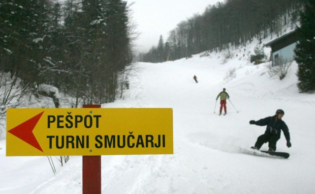 Večja nevarnost proženja snežnih plazov je na območju Zelenice. FOTO: Marko Feist/Slovenske novice