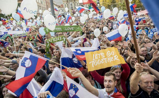 Slovenci smo športni narod in zelo ponosni na svoje športnike, tako na celotne ekipe kot na navdušujoče posameznike, ki s svojim talentom dosegajo uspehe tudi v tujini. FOTO: Voranc Vogel/Delo