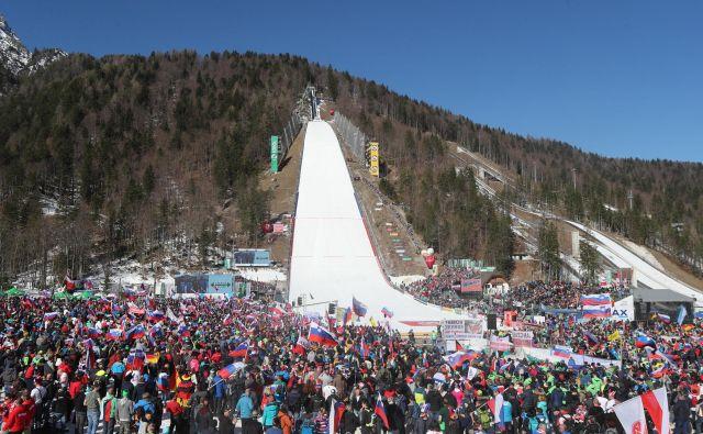 Planica je pripravljena za svetovno prvenstvo v poletih. FOTO: Marko Feist/Delo