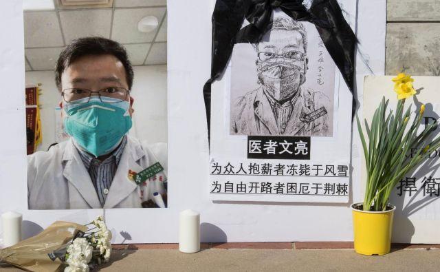 Li Wenliang je hotel oblast prvi opozoriti na pojav novega virusa. Foto: Mark Ralston/Afp