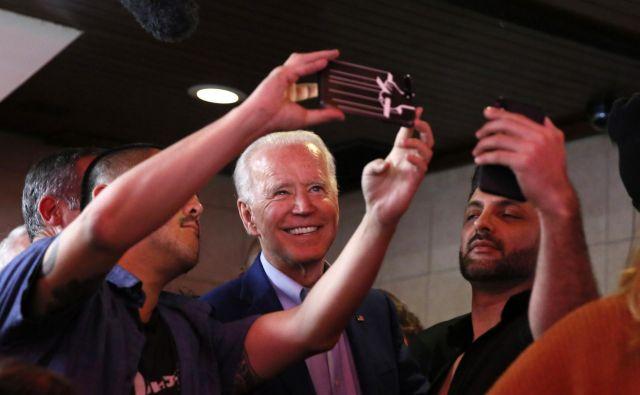 Nekdanji podpredsednik Joe Biden. FOTO: Elizabeth Frantz/Reuters