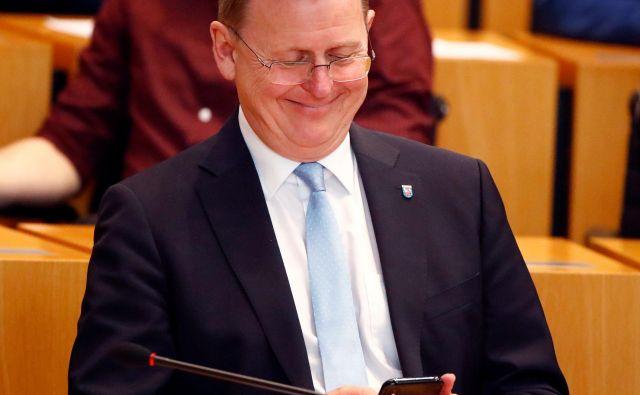 Bodo Ramelow je bil danes v tretjem krogu izvoljen za predsednika zvezne vlade v Turingiji. Foto: Reuters