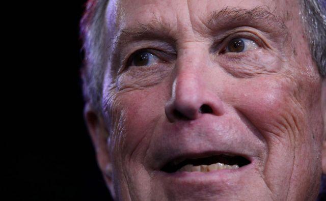 Nekdanji newyorški župan Mike Bloomberg. Foto Eva Marie Uzcategui Afp