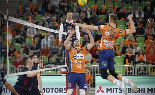 Matic Videčnik in Andrija Vilimanović sta se izkazala tudi v finalu srednjeevropske lige. FOTO: Jure Eržen