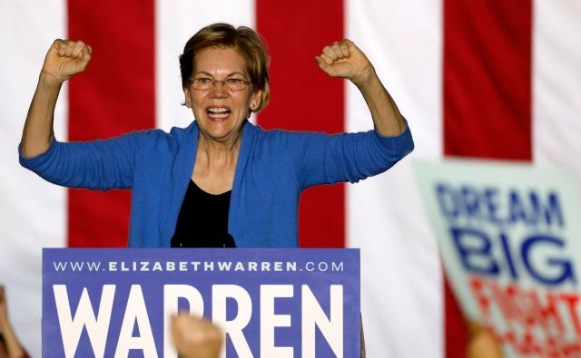 Nesojena demokatska predsedniška kandidatka Elizabeth Warren. FOTO: Jeff Kowalsky/Afp