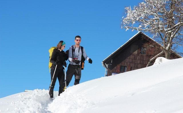 Četudi v dolini letos vlada »večna pomlad«, so razmere v slovenskih gorah zimske. FOTO: Špela Ankele/Slovenske novice