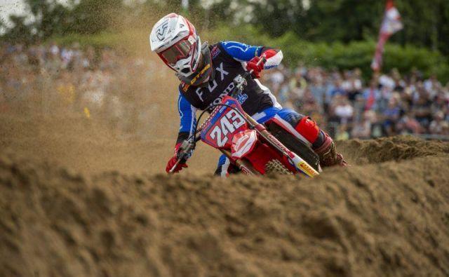 Tim Gajser je bil lani na Nizozemskem tretji. FOTO: Honda Racing