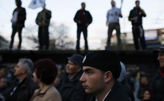 Protest v podporo srbskemu ultranacionalističnemu politiku Vojislavu Šešlju pred štirimi leti v Beogradu. Foto: Reuters
