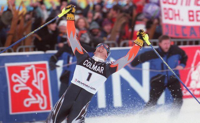 Zadnjo slovensko zmago na Vitrancu je Jure Košir prismučal 6. januarja 1999 v svoji paradni disciplini, slalomu.<br /> FOTO: Jure Eržen/Delo