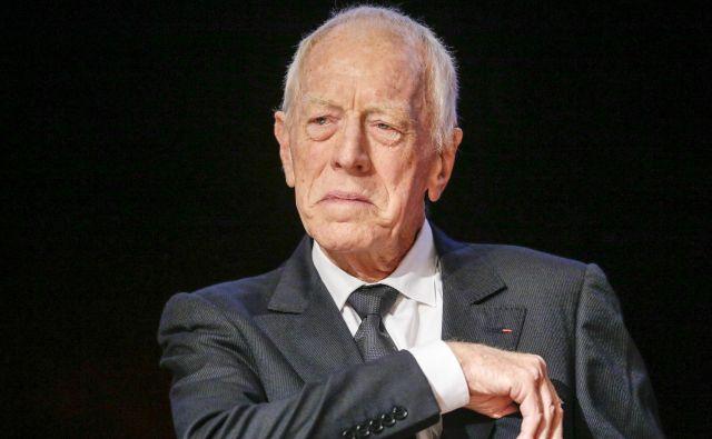 Max von sydow, ki je zaslovel z vlogo viteza, ki šahira s smrtjo, je včeraj umrl star 90 let. FOTO: Robert Pratta/Reuters
