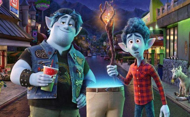 Naloga bratov Tiana Lahkonoga in Marlina je pričarati celega očeta. Za to imata 24 ur časa. Foto Pixar
