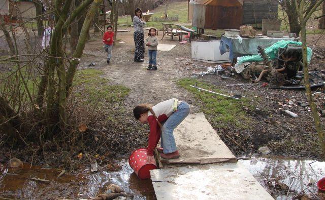 V Dobruški vasi Romi nimajo pitne vode. FOTO: Bojan Rajšek/Delo