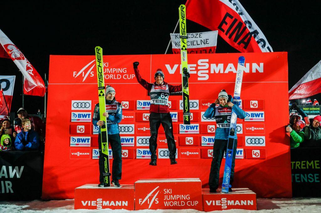 V Lillehammerju na stopničkah kar dva Slovenca, Jelar drugi, Zajc tretji