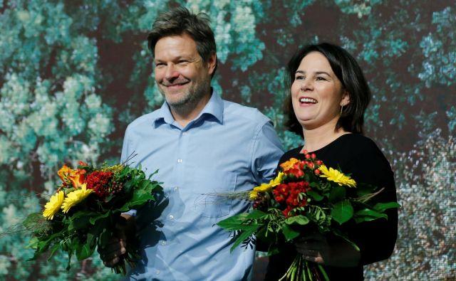 Bi lahko eden od vodij stranke Zeleni – Robert Habeck ali Annalena Baerbock – na čelu vlade zamenjal Angelo Merkel? Foto Reuters