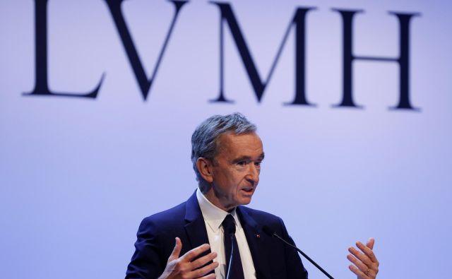 Bernard Arnault, glavni izvršni direktor skupine LVHM, je delničarjem lahko sporočil zelo dobre rezultate za lani.<br /> FOTO: Reuters