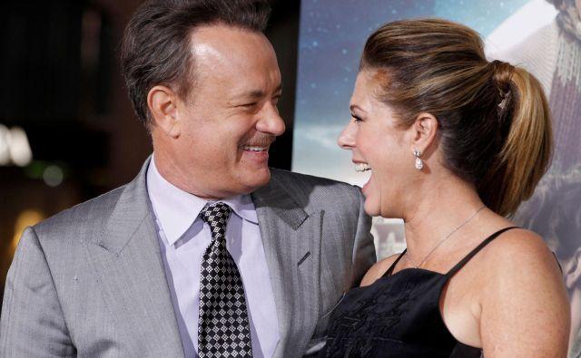 Tom Hanks in Rita Wilson FOTO: Fred Prouser Reuters