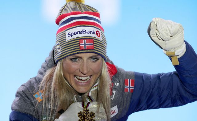 Therese Johaug je s kolegi iz norveške reprezentance že končala sezono. FOTO: AFP