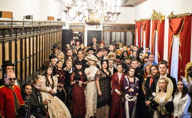 Vampirske družine se bodo spet zbrale junija na Ljubljanskem gradu. FOTO: Davor Kirbiš