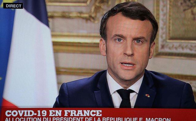 Emmanuel Macron je končno nagovoril Francoze. Foto: AFP
