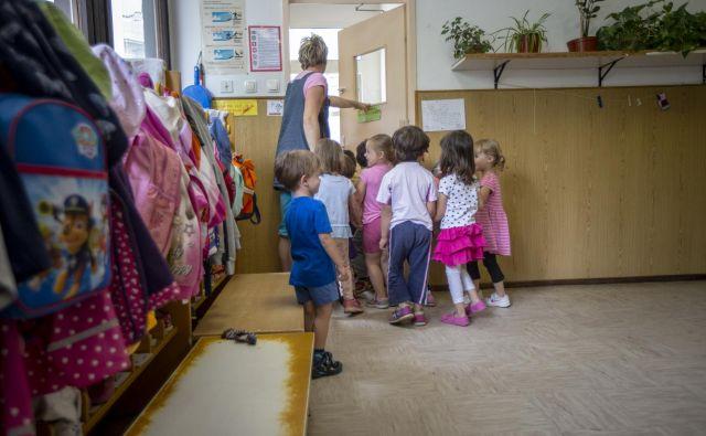 Že danes je v vrtcih precej manj otrok. FOTO: Voranc Vogel/Delo