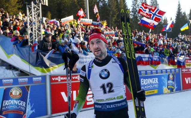 Jakov Fak je bil v tej sezoni spet bližje vrhu, vendar pa vseh ciljev ni uresničil. Foto Matej Družnik