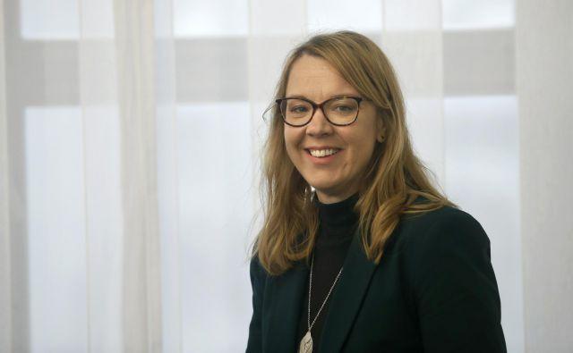 Helena Jaklitsch je poudarila, da je treba poskrbeti za to, da bodo mladi iz Slovenije v tujino odhajali z več domovinske zavesti. Foto: Blaž Samec