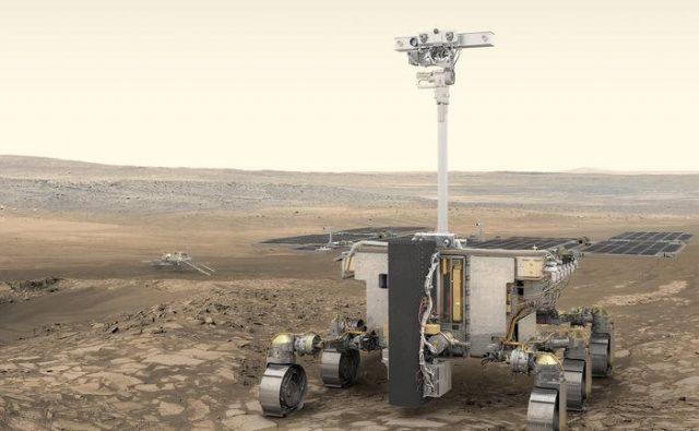 Umetniška upodobitev roverja ExoMars. FOTO: ESA/ATG Medialab