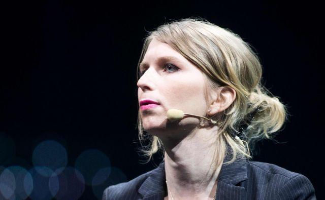 Žvižgačica Chelsea Manning je bila po letih za rešetkami včeraj izpuščena iz zapora. FOTO: Lars Hagberg/AFP