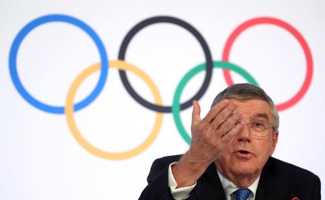 Thomas Bach bo v torek vodil izredni sestanek članic Mednarodnega olimpijskega komiteja. FOTO: Reuters