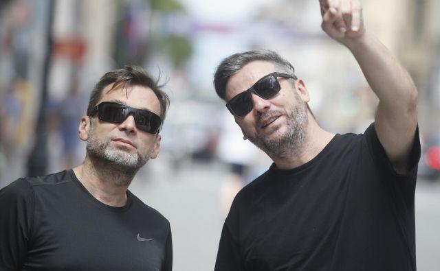 Marco Grabber in Krešimir Tomec v Ljubljani, dejavni glasbeno-producentski dvojec.<br /> FOTO: Roman Šipić/Delo