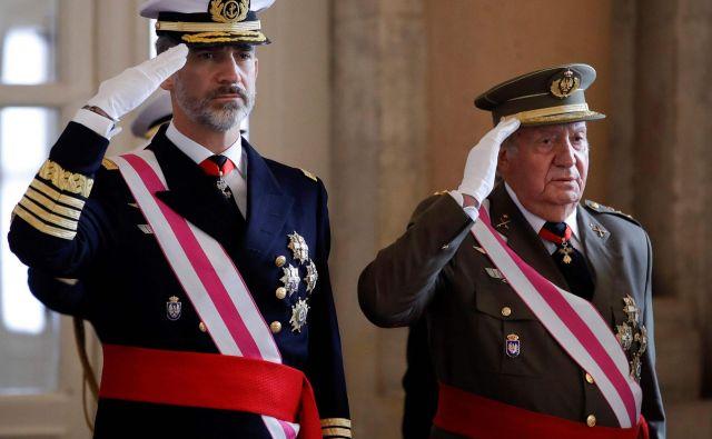 Juan Carlos je junija 2014 predal prestol sinu Filipu VI. Foto: AFP
