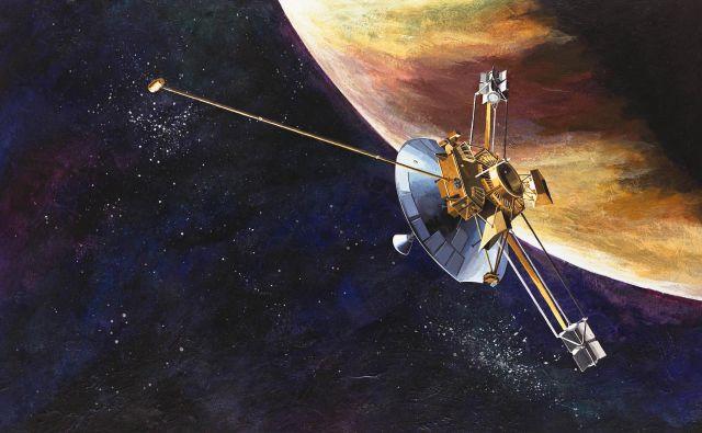 Umetniška upodobitev sonde Pioneer 10 FOTO: Nasa <div> <div></div> </div>  <div> <div></div> </div>
