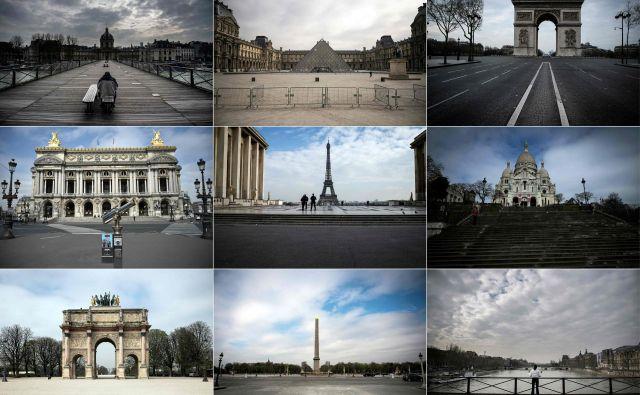 Pariz v času koronavirusa FOTO: AFP