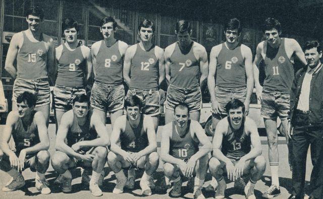 Reprezentanca Jugoslavije na svetovnem prvenstvu v košarki v Ljubljani. FOTO: Joco Žnidaršič