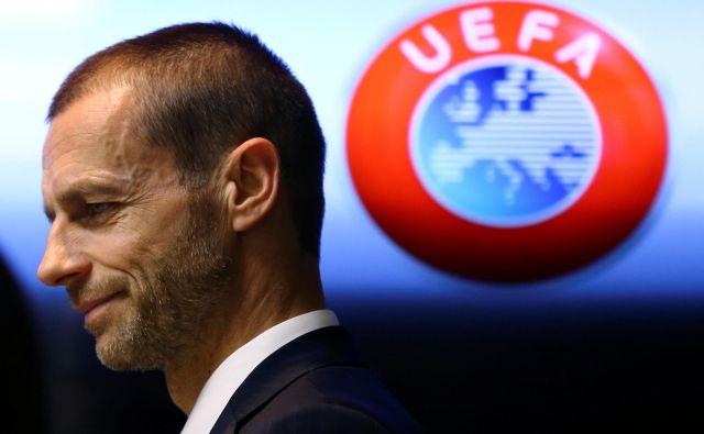 UEFA je pod vodstvom Aleksandra Čeferina začrtala jasne smernice za evropski nogomet med pandemijo in po njenem koncu. FOTO: Reuters
