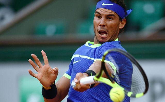 Rafael Nadal je že 12-krat zmagal na turnirju v Parizu, na naskok na 13. lovoriko bo moral počakati. FOTO: AFP