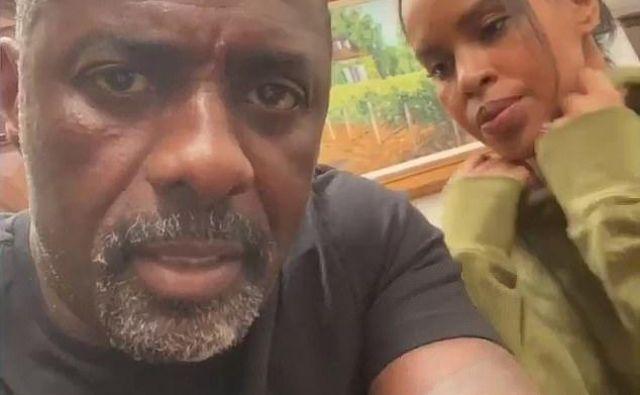 Koronavirusu se ni izognil niti angleški zvezdnik Idris Elba, ki se je po rezultatih testa z ženo Sabrino zaprl med štiri stene. FOTO: Instagram