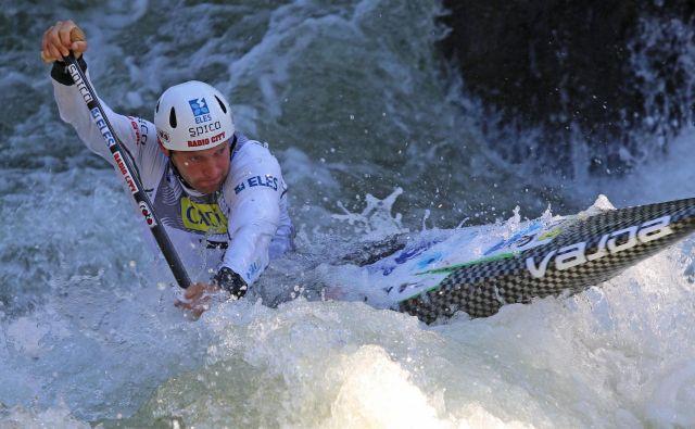 Benjamin Savšek bi moral v Londonu braniti lanski naslov evropskega prvaka med kanuisti. FOTO: Nina Jelenc/KZS
