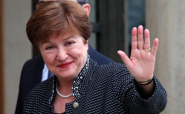 Obdobje Kristaline Georgieve v MDS, kjer je generalna direktorica postala pred manj kot pol leta, bo zaznamoval covid-19. Foto Reuters