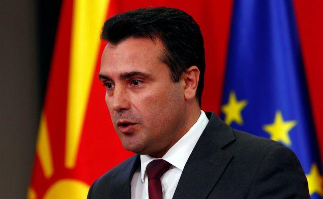 Bivši premier Zoran Zaev stavi na članstvo Severne Makedonije v Natu in na začetek pristopnih pogajanj z EU. Foto: Ognen Teofilovski/Reuters