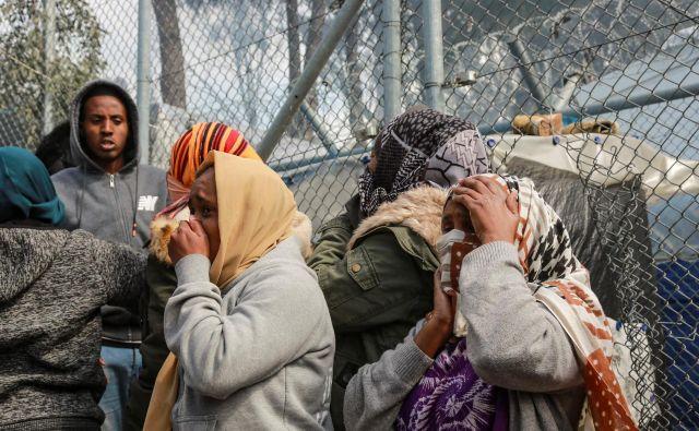 Begunsko taborišče Moria na Lezbosu. FOTO: Manolis Lagoutaris / AFP