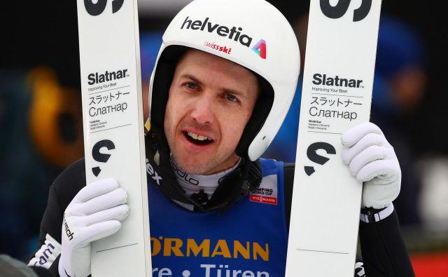 Simonu Ammannu med pravkar končano sezono 2019/20 ni šlo po načrtih in željah. Čeprav je vse do zadnjega verjel, da se mu bo odprlo, se to ni zgodilo. FOTO: Reuters