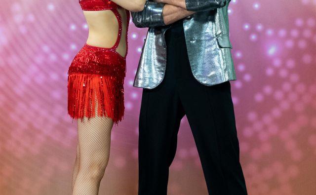 S soplesalko v oddaji Zvezde plešejo Tadejo Pavlič se je, tako trdi, odlično ujel. FOTO: Miro Majcen/POP TV