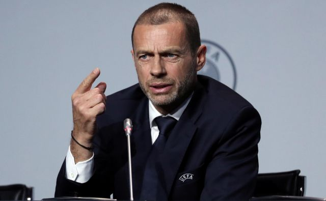 Aleksander Čeferin je prav ta teden razkril odločitev Uefe o preložitvi evropskega prvenstva za leto dni. FOTO: Reuters