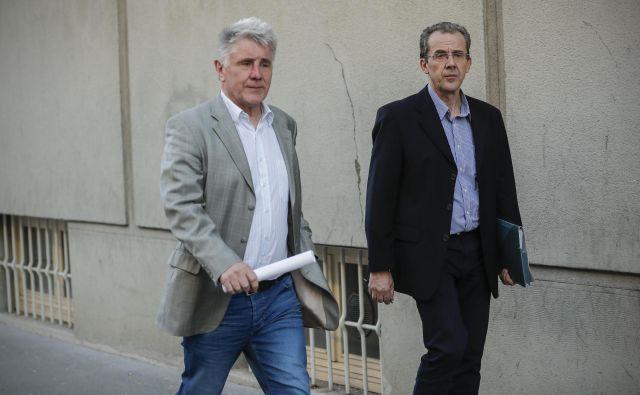 Miro Petek (levo) je bil razrešen iz mesta direktorja Ukoma po le tednu dni. FOTO: Uroš Hočevar