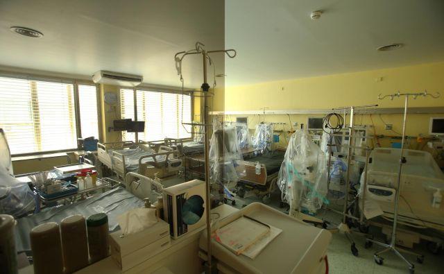 Slovenija ima 33 postelj za intenzivno nego in 168 naprav za pomoč pri dihanju. FOTO: Jure Eržen