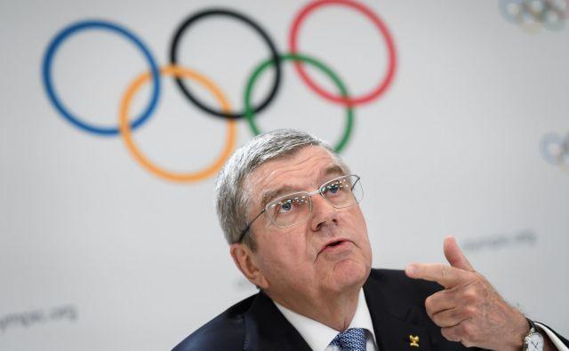 Predsednik Mednarodnega olimpijskega komiteja Thomas Bach vztraja pri svojem. FOTO: AFP
